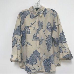Ralph Lauren Linen Buttoned Down Shirt L